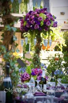 #purple #wedding #flowers