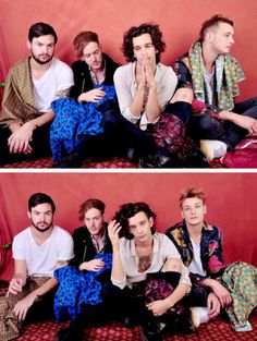 The 1975 pose for a portrait during the 2014 Boston Calling Music Festival