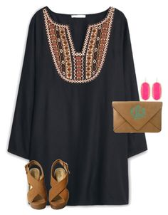 """❤️❤️ this dress!"" by maliaackermann ❤ liked on Polyvore featuring MANGO and Kendra Scott"