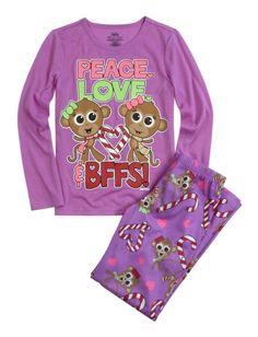 BFF Monkey Pajama Set