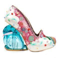 Irregular Choice Rainbunny Pink Rainbow Rabbit Heel Unique Collectable Shoes #IrregularChoice #CourtShoes