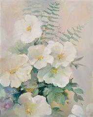 Willem  Haenraets - Floral in white