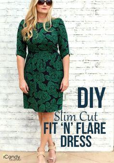 DIY Slim Fit & Flare Dress by iCandy Handmade