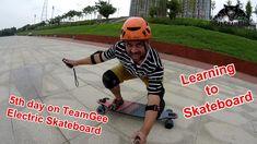 TeamGee Electric Skateboard 5th day learning to skateboard Progress
