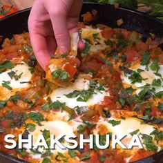 If you haven't tried shakshuka eggs, you are in for a treat! This is a great recipe for brunch or dinner! Simple eggs with tomatoes and bell peppers. Egg Recipes For Dinner, Brunch Recipes, Great Recipes, Breakfast Recipes, Simple Egg Recipes, Recipes With Eggs, Brunch Food, Veggie Recipes, Indian Food Recipes