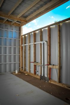 Build Container Home 603412050049906099 - Plumbing started on the Master Bathroom. Container Homes Cost, Container Shop, Building A Container Home, Container Cabin, Container Buildings, Container Architecture, Sustainable Architecture, Residential Architecture, Contemporary Architecture