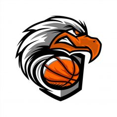 Badminton Logo, Team Logo Design, Eagle Head, Netball, Basketball Teams, Eagles, Vector Free, Logos, Mockup
