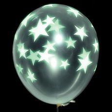 Glow Star Latex Balloons