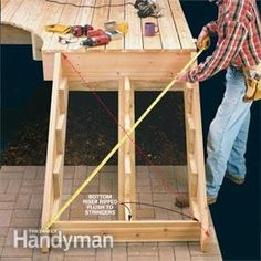 How to Build Deck Stairs 2019 Calculating the step dimensions laying out stringers and building a sturdy set of deck stairs. The post How to Build Deck Stairs 2019 appeared first on Deck ideas. Deck Building Plans, Building Stairs, Deck Plans, Garage Plans, Cabin Plans, Boat Plans, House Plans, Outdoor Projects, Diy Projects