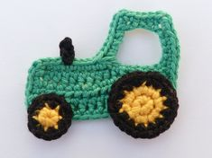 Aplique de Crochê em Trator - /  Apply at Crochet in Tractor -