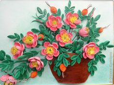 квиллинг картины цветы букеты: 20 тыс изображений найдено в Яндекс.Картинках