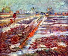 """Champs enneigés à Arles"" Snow-covered Fields in Arles) by Vincent van Gogh Vincent Van Gogh, Famous Artists Paintings, Van Gogh Paintings, Dutch Artists, Great Artists, Van Gogh Arte, Artist Van Gogh, Champs, Impressionist"