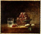 Still Life of Fruit and a Glass, 1759 - Jean-Baptiste-Simeon Chardin - www.jean-baptiste-simeon-chardin.org