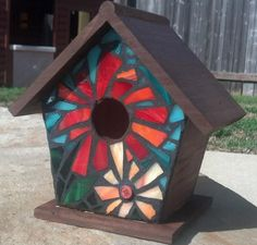 Mosaic Birdhouse - from Delphi Artist Gallery by TBradley Murals & More