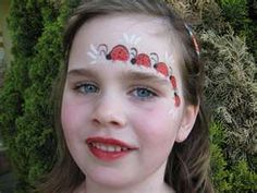 face painting: lady bugs, cancer ribbon etc
