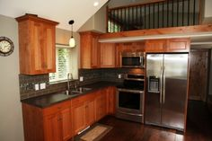 home kitchen. i like that it is small but has everything a big house has so it dosnt feel tiny. Small House Living, Small Space Living, Home And Living, Tiny House Movement, Tiny Spaces, Little Houses, Mini Houses, Home Kitchens, Decoration