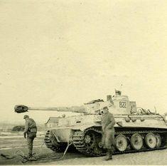 VI Tiger (commander is future Ritterkreuzträger SS-Oscha. Paul Egger) from Pz. Tiger Ii, Ww2 History, Military History, Mg 34, Ferdinand Porsche, Tank Armor, Germany Ww2, Tiger Tank, Military Armor