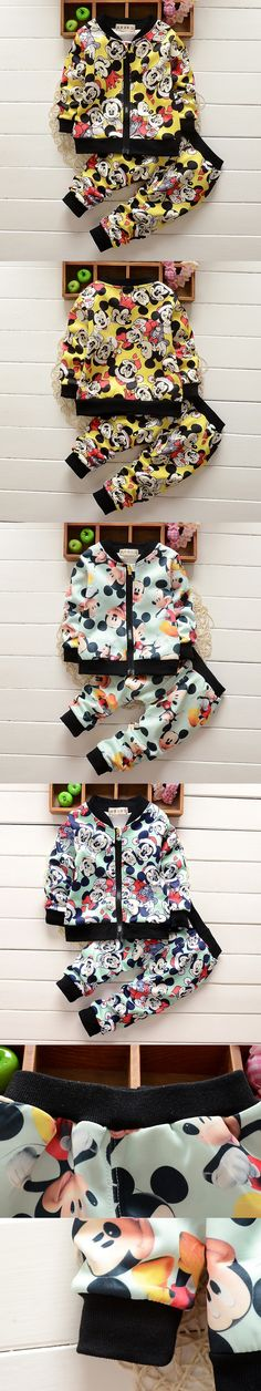 2016 New Fashion Spring Autumn Unisex Baby Clothing Sets Children Boys Cute Suits Babies Tops+pants 2pcs Set Infant Girl Clothes