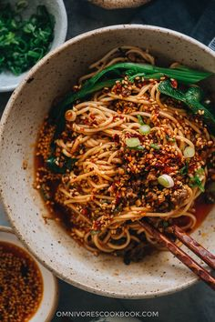 A real-deal dan dan noodle recipe that stays true to the authentic Sichuan flavor. This post covers all the key ingredients and includes a super rich and balanced sauce to recreate the classic dish that tastes like China. Asian Noodle Recipes, Spicy Recipes, Asian Recipes, Cooking Recipes, Ethnic Recipes, Chinese Noodle Recipes, Chinese Meals, Chinese Desserts, Asian Foods