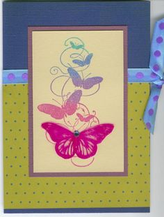 butterfly formation 3792F: Stamp-it Australia. Card by Susan of Art Attic Studio