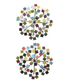 Love this Metal Blossom Square Wall Art - Set of Two on #zulily, $70 !!   #zulilyfinds