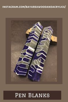 Purple Ribbon, White Ribbon, Custom Pens, Custom Wood, Pen Blanks, Reclaimed Lumber, Clear Resin, Acrylic Material, Good Grips
