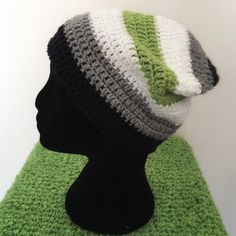 Agender Pride Slouch Beanie by JudithTheObscure on Etsy