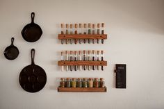 DIY test tube spice rack, must look into this!