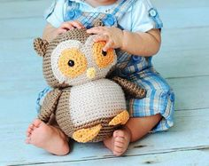 Crochet PATTERN: Owl Plush pdf by FreshStitches on Etsy