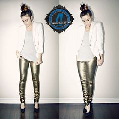 6 Fashion Bloggers Show How to Wear Metallic Jeans