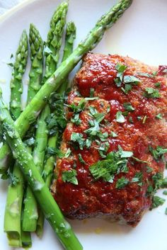Asparagus brightens up this satisfying but perfectly portioned mini meatloaf. Get the recipe at Delish.