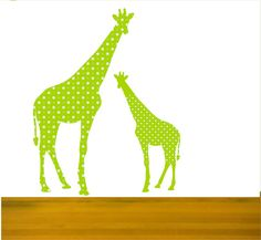 Nursery Wall Decal Mother and Baby Giraffe Wall Decals by Popitay, $85.00