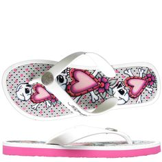 Ed Hardy Flip Flop Beach-Comber Sandal for Women - Pink