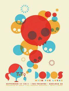 Dodos music gig  posters   ... Music Posters - Memorabilia, Concert Poster, Silkscreen, Poster Art