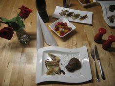 von kuechenereignisse.com  Chicorée kurz angebraten mit Barolo-Essig... brasilianisches Steak dazu und passt.