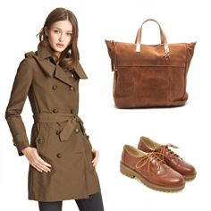 Wear fall's colors and this leather bag! Daily Look, Leather Bag, Raincoat, Ootd, Colors, Fall, Jackets, How To Wear, Fashion