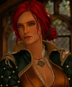 The witcher triss The Witcher Wild Hunt, The Witcher 3, Triss Merigold Witcher 3, Ciri, Witcher 3 Characters, Redhead Characters, Witcher Art, Fanart, Pandora