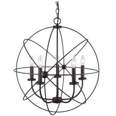 CANARM, Summerside 5-Light Oil Rubbed Bronze Chandelier, ICH282B05ORB25 at The Home Depot - Mobile