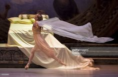 ST PETERSBURG, RUSSIA. Principal dancer of The Royal Ballet (United Kingdom) Sarah Lamb of the United States in a scene from the Perm Tchaikovsky Opera and Ballet Theatre's production of the ballet Romeo and Juliette at St Petersburg's the Alexandrinsky Theatre. The event is part of the 2016 Dance Open International Ballet Festival. Ruslan Shamukov/TASS