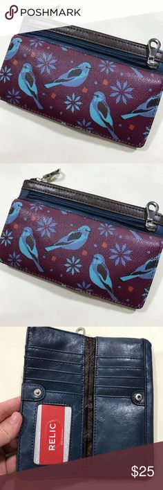Relic Bird Print Wallet Brown Leather Relic Bird Print Wallet Brown Leather NWOT Relic Bags Wallets