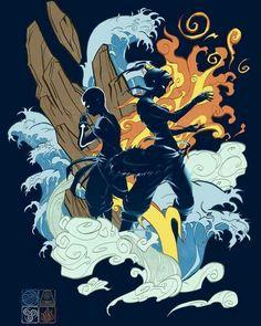 Aang y Korra