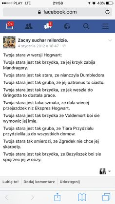 Polish Memes, Reasons To Live, Harry Potter Memes, Dad Jokes, Hogwarts, Haha, Entertaining, Humor, Feelings
