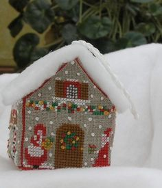 Christmas house with mr. and mrs. Claus