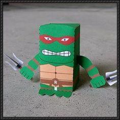ninja turtle craft | Teenage Mutant Ninja Turtles (TMNT) - Raphael Free Paper Toy Download