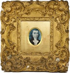 Masterpiece! 1700s Georgian Portrait Miniature, Wood Frame - Exceptional! Gesso on wood frame, too