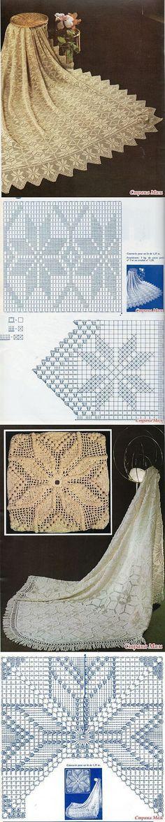 crochet lace bedspreads...♥ Deniz ♥: