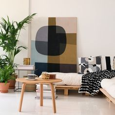 Marimekko Ruutu-Unikko Black Throw Pillow - Marimekko Bedding, Blankets & Throw Pillows