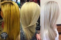TRANSFORMATION: Orange To Cool Silver Blonde | Modern Salon