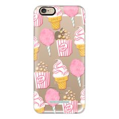 iPhone 6 Plus/6/5/5s/5c Case - Cute Summer Ice Cream Popcorn Candy... ($40) ❤ liked on Polyvore featuring accessories, tech accessories, iphone case, apple iphone cases, pattern iphone case, print iphone case and vintage iphone case