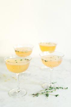 Bruleed Grapefruit & Gin Fizz